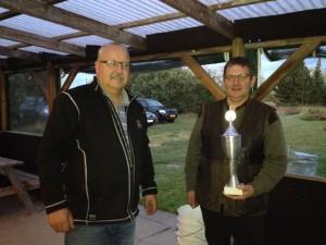Karsten Buur vandt vilddue  pokalen efter omskydning mod hans Peter Kjær og Gustav Nielsen