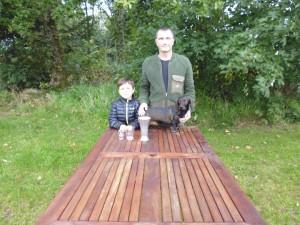 Vi var til gravprøve i dansk gravhundeklub i Tjæreborg den 14-9-2014. Min hund Gavtyv`s Bitten blev prøvens bedste hund ud af 13 tilmeldte hunde.
